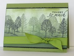 I love Heather Telford's designs!  Her cards are sponged works of art.