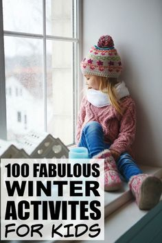 If the cold and miserable weather is giving you and your kids a serious case of cabin fever, but you can't fathom the idea of building another snowman, playing another game of Crazy Eights, or vacuuming playdoh out of your carpet one more time, this collection of 100 winter activities for kids is just what you need! It is FILLED with fantastic boredom busters for kids, and while some activities will require preparation and participation on your part, others will give you a few moments to coo