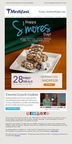 #Medifast - Happy Smores Day #email #design