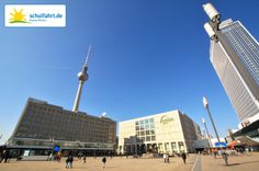 Der Alexanderplatz - oder auch Alex genannt - ist das neue Herz Berlins. www.schulfahrt.de #Alexanderplatz #Berlin #Fernsehturm