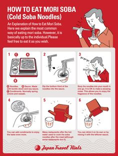 HOW TO EAT MORI SOBA. Japan.