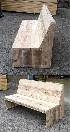 pallet outdoor bench sofa
