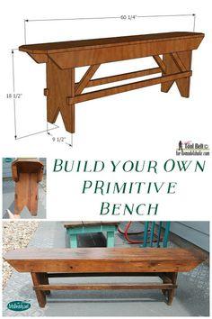ART IS BEAUTY: Build Your Own PRIMITIVE Bench