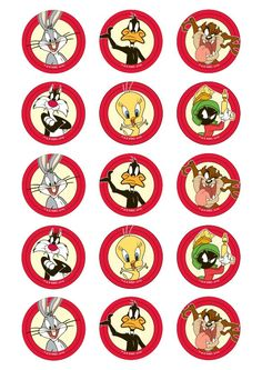 Looney Tunes Party, Looney Tunes Cartoons, Bottle Cap Necklace, Bottle Caps, Bunny Birthday, Dad Birthday, Walt Disney Characters, 13th Birthday Parties, Daffy Duck