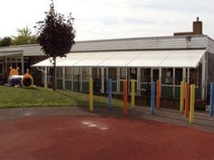 School Entrance Canopy, we have built bespoke canopies for schools and more, see more at our website. School Entrance, Best Commercials, Canopies, Schools, Bespoke, Website, Street, Building, Outdoor Decor