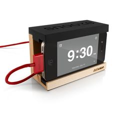 Snooze - The minimal iPhone alarm dock with functioning snooze bar!