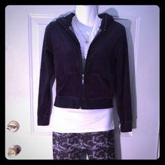 Black velour zip up jacket Black velour zip up jacket. Size XS/small. Great condition. Jackets & Coats