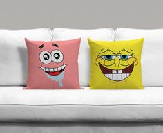 Spongebob and Patrick Best Friends Forever Couples Square Pillow Covers Pillow Case Gift Couples Case