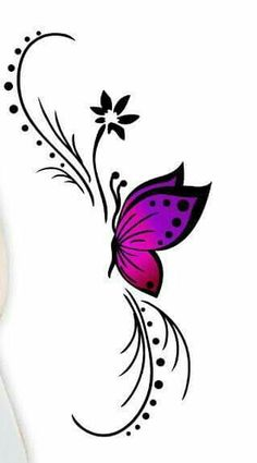 Love this for a tattoo design xx Rose And Butterfly Tattoo, Butterfly Sketch, Butterfly Tattoos For Women, Butterfly Tattoo Designs, Butterfly Art, Butterflies, Body Art Tattoos, Small Tattoos, Butterfly Wallpaper