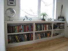 awesome 48 Affordable Bookshelves Ideas For 2019 Bookshelves For Small Spaces, Bookshelves In Living Room, Decorating Bookshelves, Bookshelves Built In, Built Ins, Ideas For Bookshelves, Bookcases, Custom Bookshelves, Long Low Bookcase