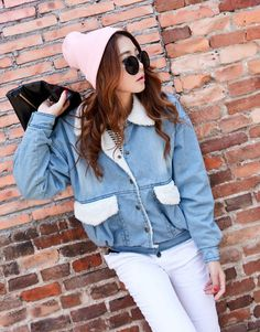 Casual Style Winter Fashion Wool Collar Denim Coat--Click the picture can place an order,we support wholesale denim. #shoes #wholesale #fashion #lovely #cheap #Korean #dress #sexy #denim