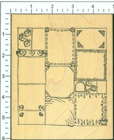 Very Large divided frame or background rubber stamp