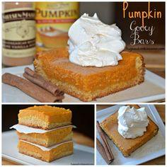 Pumpkin Gooey Bars