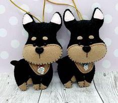Gq, Felt, Christmas Ornaments, Holiday Decor, Home Decor, Dogs, Felting, Christmas Ornament, Interior Design