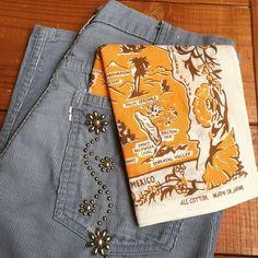 CAL Map Bandana -Store Limited-  #standardcalifornia #スタンダードカリフォルニア #bandana #cal #limited #htc #hollywoodtradingcompany #custom #vintage #levis #corduroy #pants