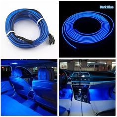 Car Headlight Bulbs(led) Qualified 2m White Neon Light Neon Wire Flexible El Wire Rope Tube Strip For Audi A1 A5 Sline Vw Golf4 Interanl Car Styling Easy To Lubricate Automobiles & Motorcycles