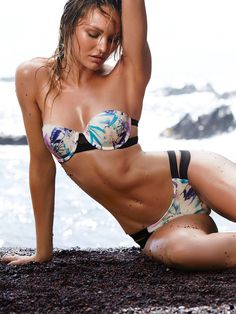 8055487e2d0 Candice Swanepoel shows off her curves for Victoria s Secret Swimwear 2015.   vsswim  candiceswanepoel