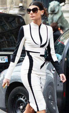 Giovanna Battaglia during Fall Paris Fashion Week