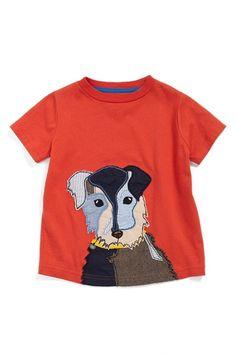 Mini Boden Dog Appliqué Cotton T-Shirt (Toddler Boys, Little Boys & Big Boys) available at #Nordstrom