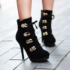 Wholesale New style stylish personalized women ankle boots Z-GXZ6796 black - Lovely Fashion