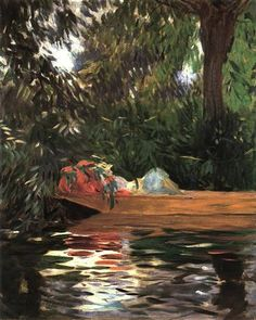 Under the Willows, 1887 ~ John Singer Sargent ~ (American: 1856-1925)