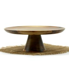 Wooden Sweet Gum Cake Stand / Pedestal Cake by WoodExpressions