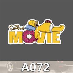 Simpsons Movie Homer Donuts Sticker Waterproof Laptop Car Auto Notebook Fridge