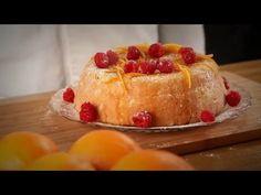 Surpreenda com esta receita de bolo de laranja com framboesas