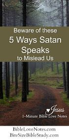 5 Ways Satan Lies to Us. We are called to be alert to the devil's schemes and this short devotion and Bible study equip us to recognize 5 ways that Satan seeks to mislead us. Bible Prayers, Bible Scriptures, Bible Quotes, Bible Teachings, Bible Psalms, Christ Quotes, Catholic Quotes, Christian Living, Christian Life