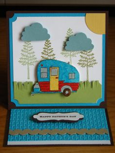 Camper Father's Day card by Dawn Quintilio
