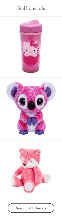 """""""Stuff animals"""" by pierce-the-falling-sirens ❤ liked on Polyvore featuring baby, baby stuff, kids, baby girl, ddlg, filler, toys, stuffed animals, stuffies and animals"""