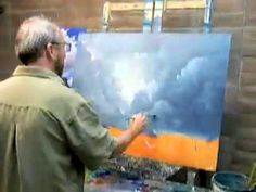 How To Paint Oil Painting Demo Clouds In Fast Motion...Life Is Short