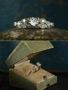 The myriad of geometric shapes all put together into one gorgeous ring. | 40 Vintage Wedding Ring Details That Are Utterly To Die For