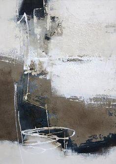 """Renate Migas, """"Strukturen vor Schwarz I"""" Mit einem Klick auf """"Als Kunstkarte versenden"""" versenden Sie kostenlos dieses Werk Ihren Freunden und Bekannten."""