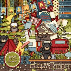 Happy Camper Digital Scrapbook Kit  Digital by JssScrapBoutique, $4.99