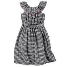 Girls 4-8 Carter's Geometric Maxi Dress, Girl's, Size: 6X, Ovrfl Oth