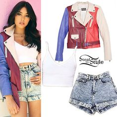 Image shared by Anaelisa Espina G. Find images and videos about madison beer style on We Heart It - the app to get lost in what you love. Mamma Mia, Madison Beer Style, Alli Simpson, Cropped Cami, Short Outfits, Blue Outfits, Playing Dress Up, High Waist Jeans, Her Style