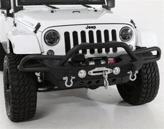 Smittybilt - SRC Gen2 Front Bumper - Black Textured - Fits 2007 to 2016 JK Wrangler, Rubicon and Unlimited - 4WheelParts.com