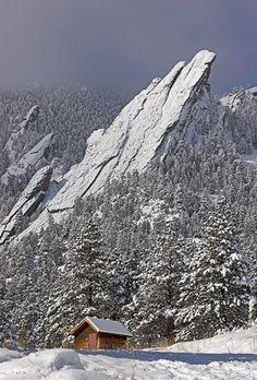 Image detail for -Boulder Flatirons Winter Morning : Chautauqua Park Boulder, Colorado #BoulderInn