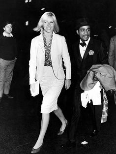 and wife May Britt, early Swedish Actresses, Sammy Davis Jr, Celebs, Celebrities, Classic Hollywood, All Star, Singer, Actors, 1960s