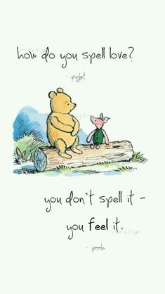 How do you spell #love? You dont you feel it. So cute who does not love Pooh and Piglet!