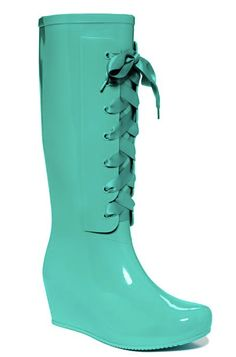 New hot fashion rain boots low heels waterproof women wellies ...
