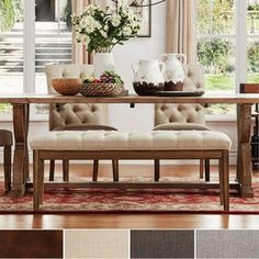Benchwright Premium Tufted Reclaimed 52-inch Upholstered Bench by iNSPIRE Q Artisan - Free Shipping Today - Overstock.com - 17126134