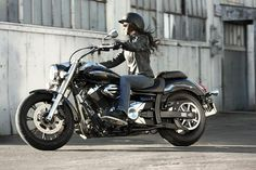 yamaha midnight star photos and other information. Look best cars brands! Lady Biker, Biker Girl, Motos Yamaha, Yamaha V Star, Cafe Racer Girl, Kustom Kulture, Car Brands, Girl Wallpaper, Cars And Motorcycles