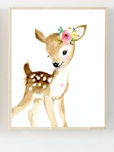 Nursery Forest Print Set of Neutral Nursery Art, Nursery Decor, Kids Wall Art Decor Floral Nursery, Nursery Neutral, Nursery Prints, Nursery Wall Art, Nursery Decor, Deer Nursery, Floral Room, Nursery Paintings, Room Decor