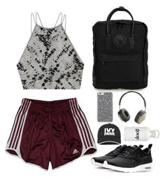 """""""Workout outfit"""" by emmeleialouca on Polyvore featuring Victoria's Secret, adidas, NIKE, Fjällräven, Frends, Ivy Park and bkr"""