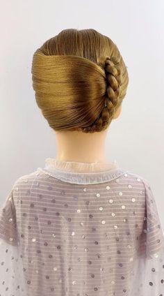Easy Hairstyles For Thick Hair, Hair Tutorials For Medium Hair, Hairdo For Long Hair, Front Hair Styles, Medium Hair Styles, Curly Hair Styles, Headband Hairstyles, Girl Hairstyles, Braided Hairstyles