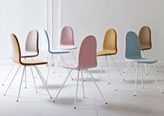 Jacobsen's Tongue Chair is back in a 2014 palette.
