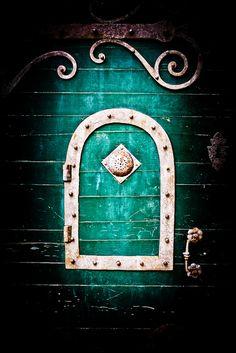 Striking Teal Green Door