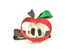 Apple hair clip